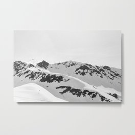black + white Metal Print