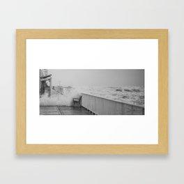waved ponton Framed Art Print