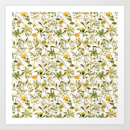 Vintage & Shabby Chic - Yellow Wildflowers Kunstdrucke
