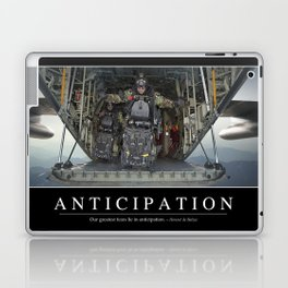 Anticipation: Inspirational Quote and Motivational Poster Laptop & iPad Skin