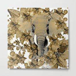 ELEPHANT RUSTIC DRAGONFLY  Metal Print