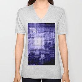 Nebula Pixels Periwinkle Lavender Unisex V-Neck
