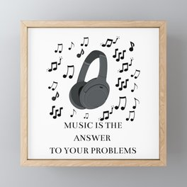 Music Framed Mini Art Print