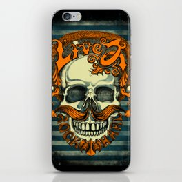 Live 2 Rock Hard iPhone Skin