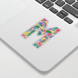M Pastel Lines Sticker