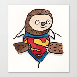 Super Sloth Canvas Print