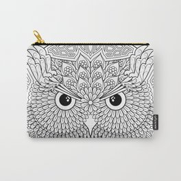 Color Your Own Owl Mandala Carry-All Pouch