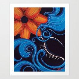 Sensual Blue Art Print