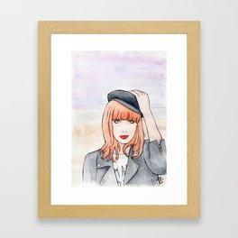 Miss P. Framed Art Print