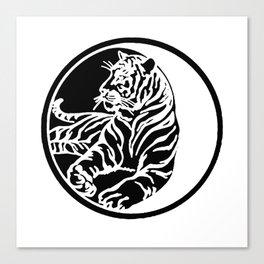 Tiger Tattoo - Black Canvas Print