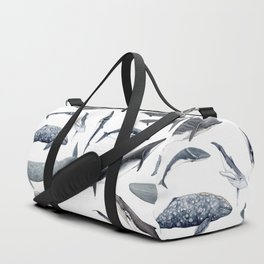 Whales all around Duffle Bag