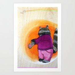 'suicide cat' Art Print