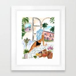 A Peaceful Morning Framed Art Print