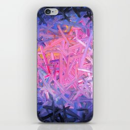 Pinkish Swipes iPhone Skin