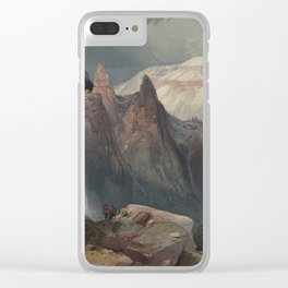 Tower Falls and Sulphur Mountain, Yellowstone National Park - Thomas Moran (1876) Clear iPhone Case