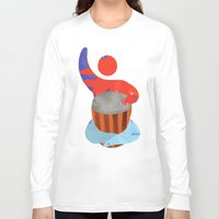 drum Long Sleeve T-shirts featuring Own drum by ArtistArt