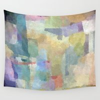 pastel Wall Tapestries featuring pastel by munich