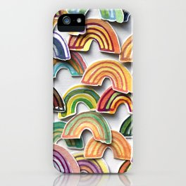 Watercolor Rainbow Stickers iPhone Case