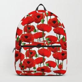 Red Poppy Pattern Backpack