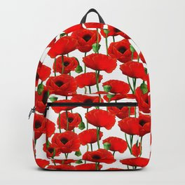 Red Poppy Pattern Backpack
