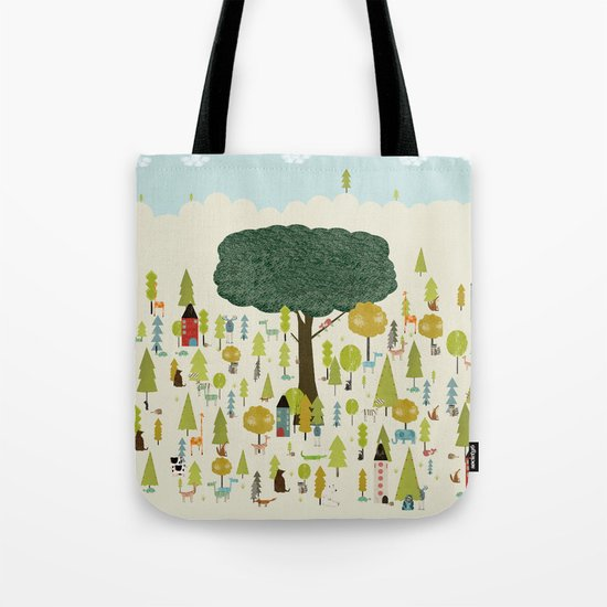 little nature wood Tote Bag