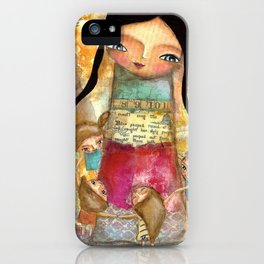 Music - teacher and children iPhone Case