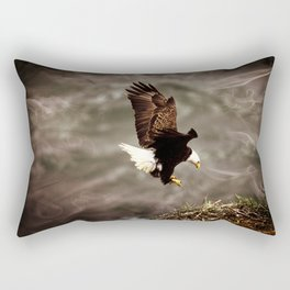 Eagle Landing Rectangular Pillow