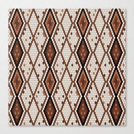 Stylized snake skin pattern Canvas Print