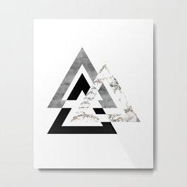 Marble Geometric Metal Print