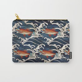 Japanese Redfish and Waves Carry-All Pouch