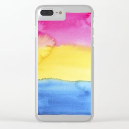 Pansexual Flag Clear iPhone Case