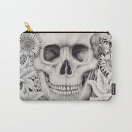 Skull and Flowers Vanitas Carry-All Pouch
