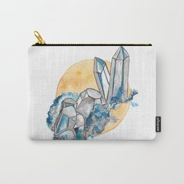 Blue Metallic Crystals Carry-All Pouch