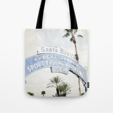 Santa Monica Sign Tote Bag
