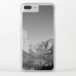 Yosemite tunnel view Clear iPhone Case