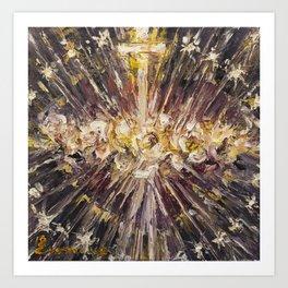 Cor Maria Sacratissimi. (Lighting) Art Print
