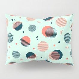 Mint Orbs Pillow Sham