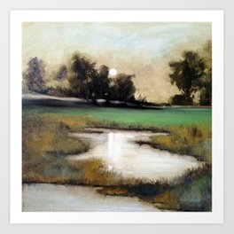 Marshland in Wilmington, North Carolina Art Print