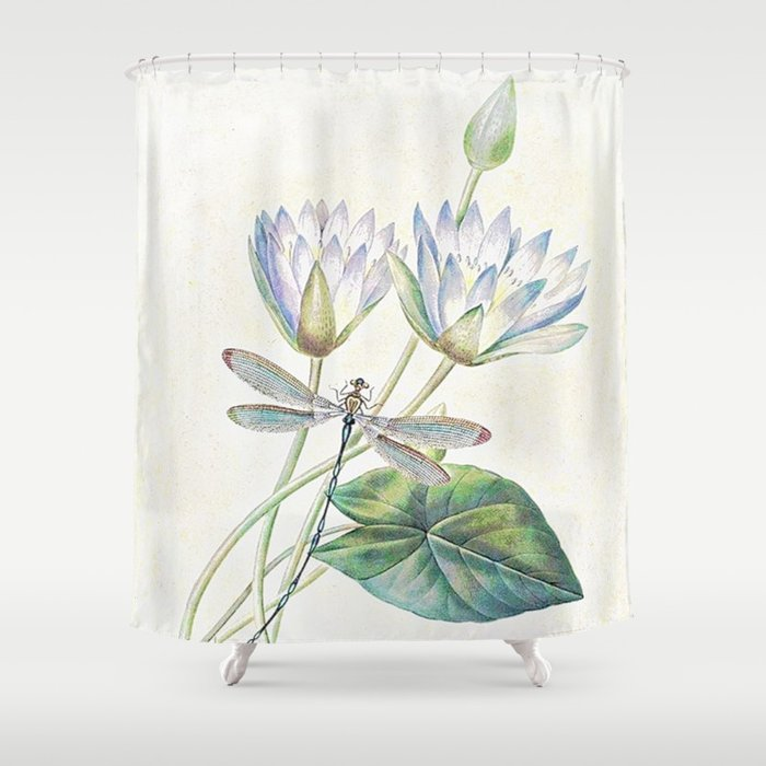 Lotus And Dragonfly Shower Curtain By Ibelieveimages
