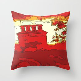 Sizzle Chimney  Throw Pillow