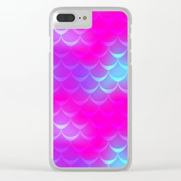 Pink and Blue Mermaid Tail Abstraction. Magic Fish Scale Pattern Clear iPhone Case