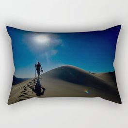 Walking on sand dunes Rectangular Pillow