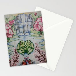 The Toad of Cherry Blossom River Stationery Cards
