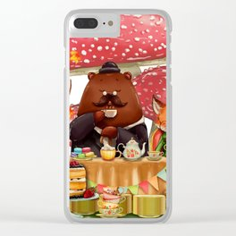 Autumn tea party #3 Clear iPhone Case