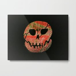 Glow skull orange Metal Print