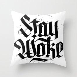 Stay Woke Throw Pillow