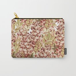 Vintage boho mauve pink dusty green floral Carry-All Pouch