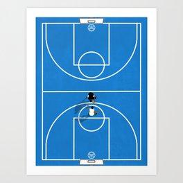 Shooting Hoops | Basketball Court Art Print