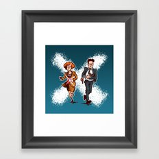 This Is How People Ran in the '90s (armed version) Framed Art Print