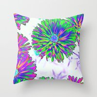 woodstock Throw Pillows featuring Memories of Woodstock!!! by Brian Raggatt